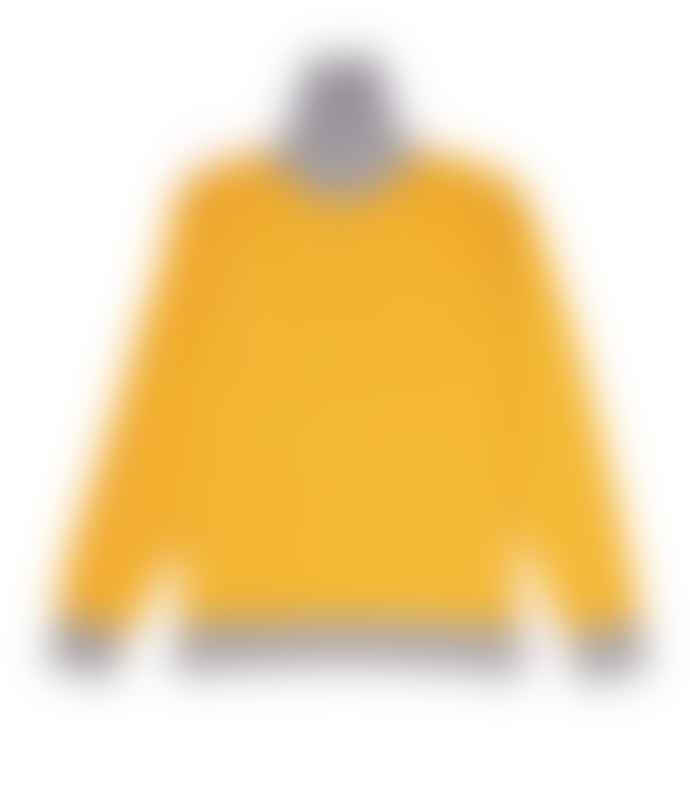 Country of Origin Yellow & Grey Contrast Turtleneck Sweater