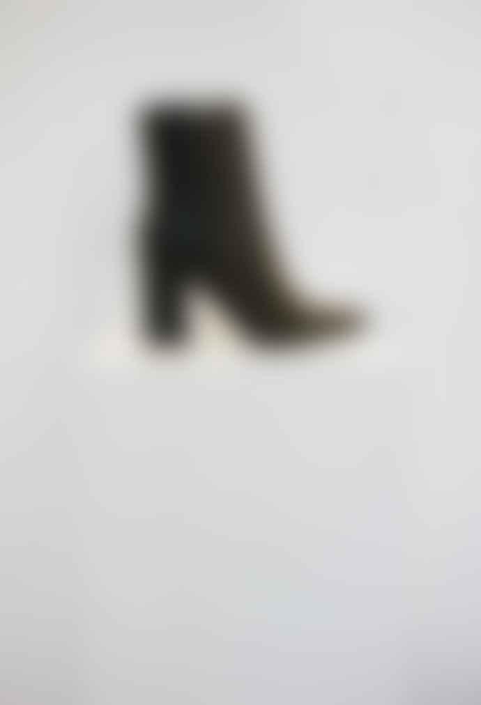 Collection & Co Pelion Khaki Block Heeled Boot