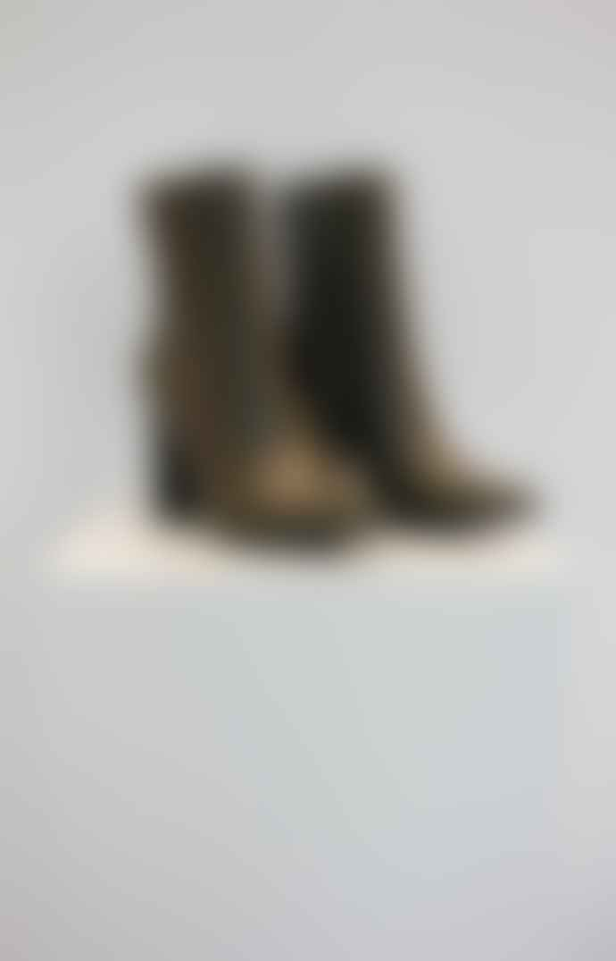 Collection & Co Pelion Khaki Block Heeled Boot