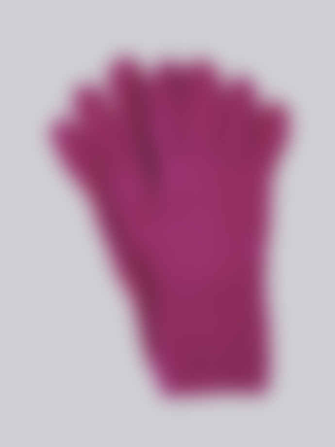 Here Today Here Tomorrow  Fuchsia Texture Pattern Gloves