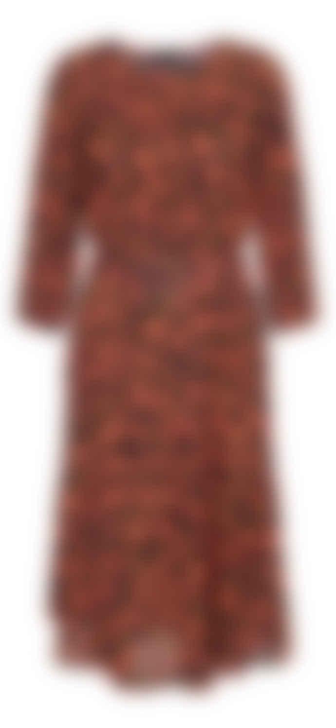 2nd Day Georgia Peach June Leopard Dress