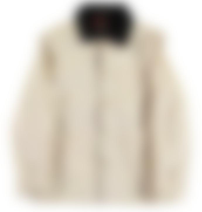 Eat Dust White Bull Denim Jacket