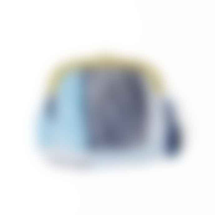 van Deurs Small Blue Pleated Textile Pouch