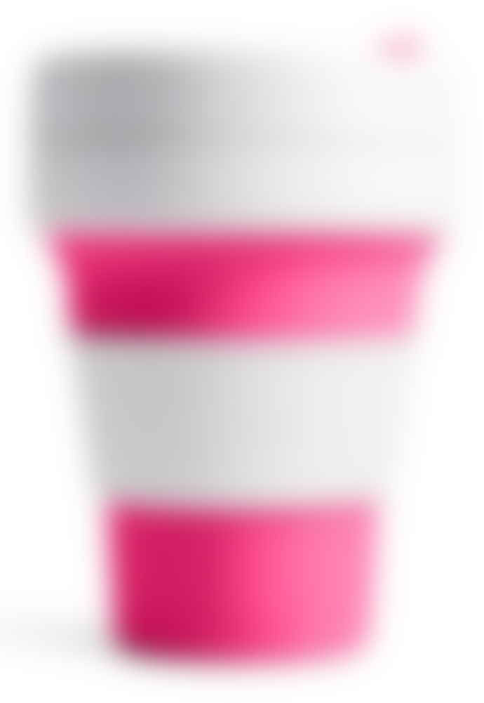 Stojo Pink Collapsible Pocket Cup
