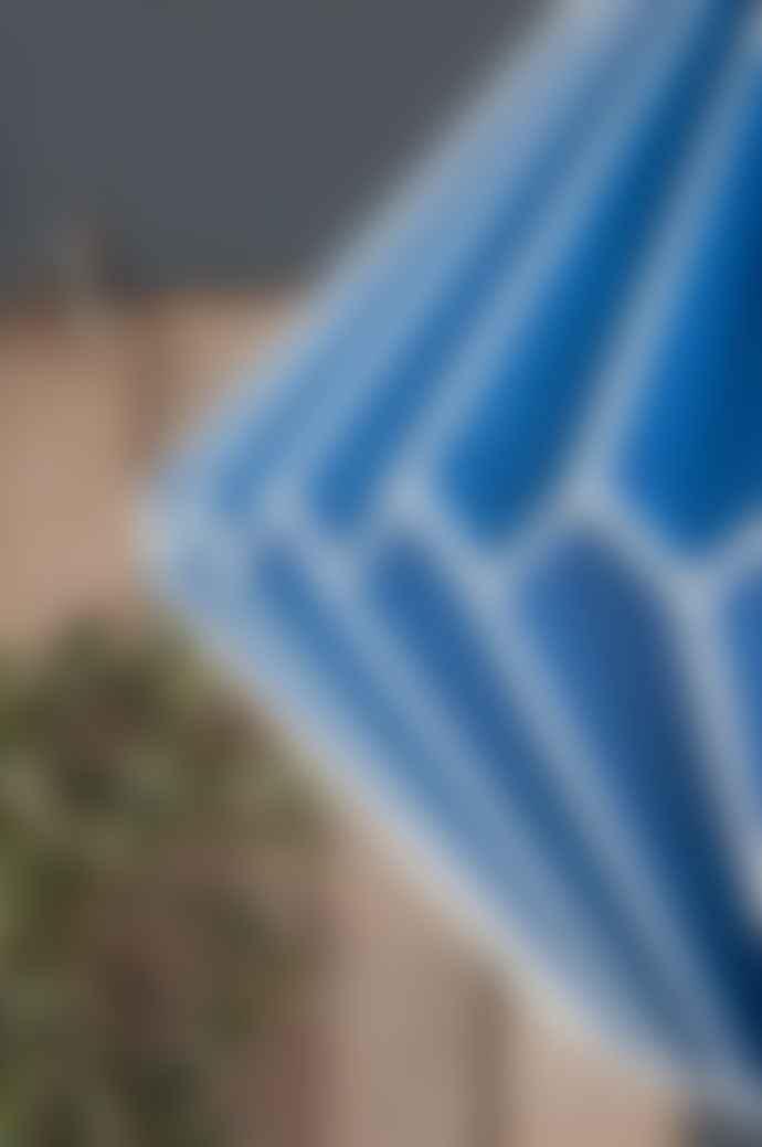 Ian Snow Sea Blue Pleated Paper Lampshade
