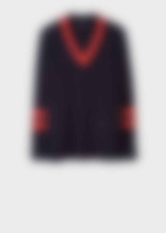 PS Paul Smith v neck oversized rib sweater