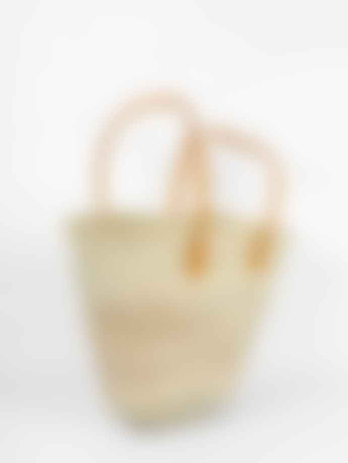 Bohemia Souk Leather Handles Shopping Basket