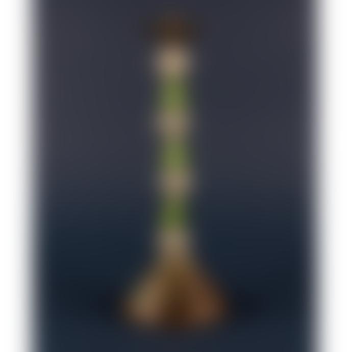 Ian Snow Green Glass Bead Candlestick