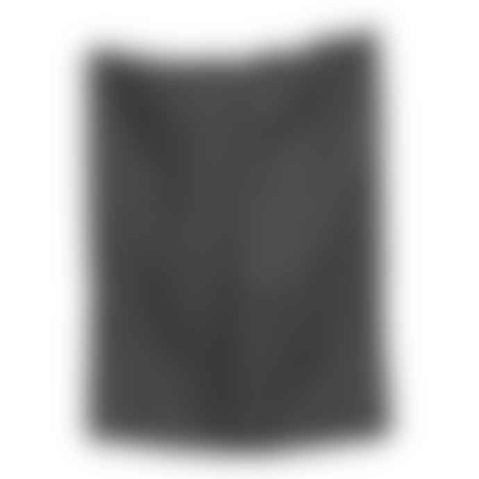 The Grey Works Linen Tea Towel In Charcoal Grey