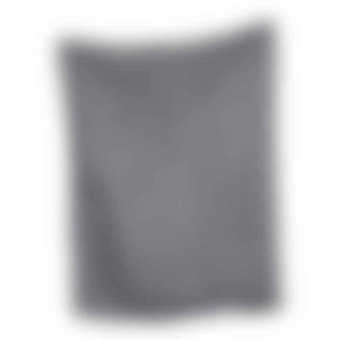 The Grey Works  Linen Tea Towel In Pale Grey