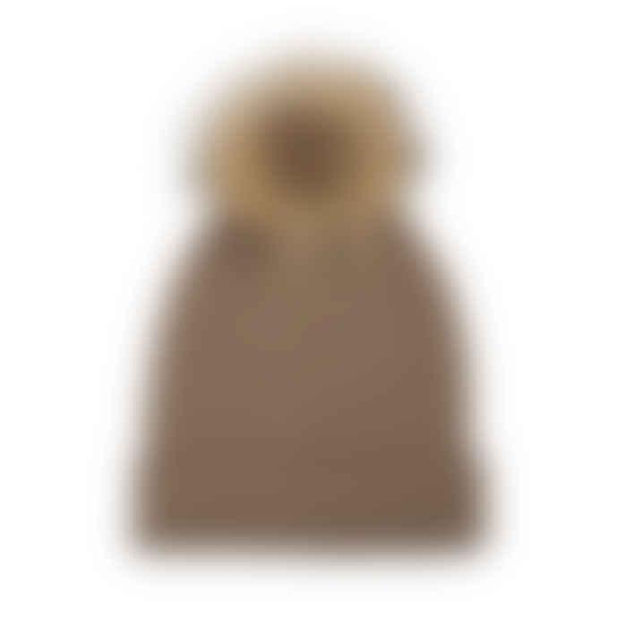 Somerville Scarves Cashmere Rib Knit Hat With Pom Pom
