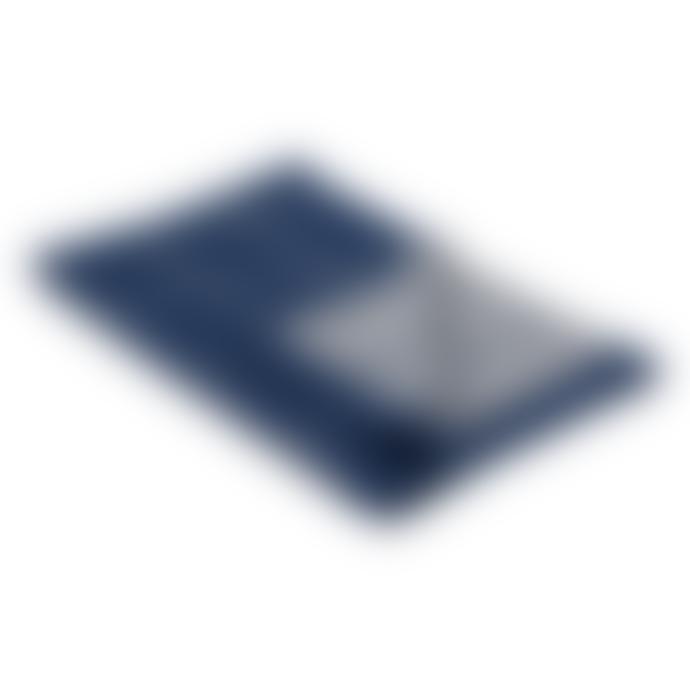 Jennifer Kent Navy Step Merino Wool Scarf
