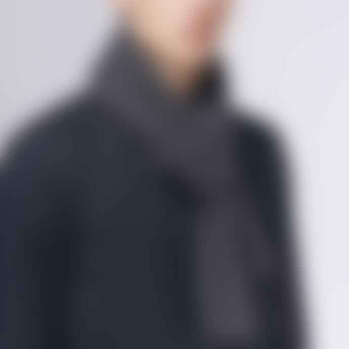 Jennifer Kent Charcoal Merino Wool Rib Scarf
