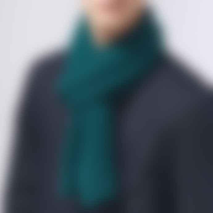 Jennifer Kent Forest Merino Wool Rib Scarf