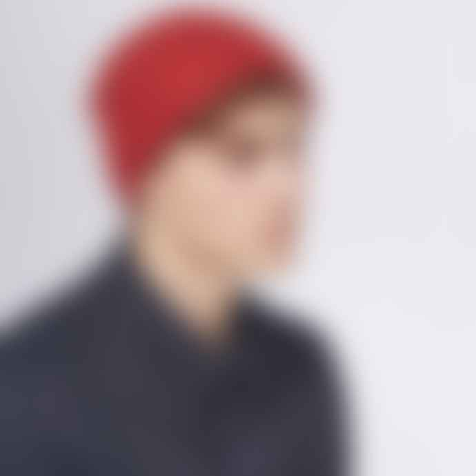 Jennifer Kent Brick Merino Wool Rib Hat