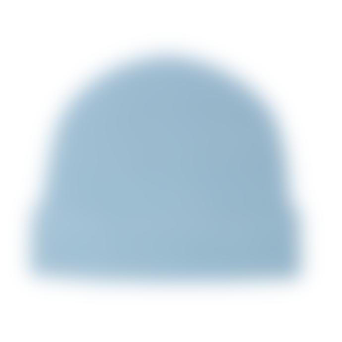 Jennifer Kent Blue Merino Wool Rib Hat