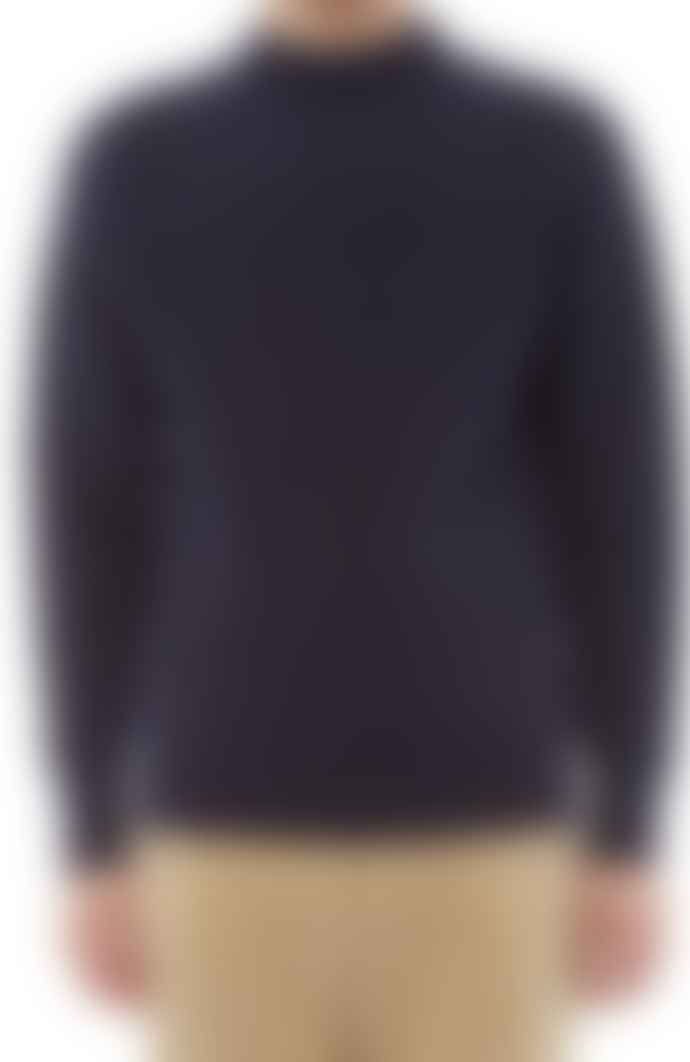 YMC Navy Montand Turtle Neck Jumper