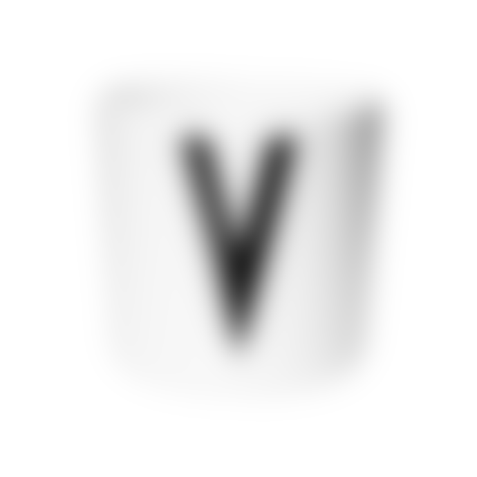 Design Letters A Z Alphabet Melamine Cup