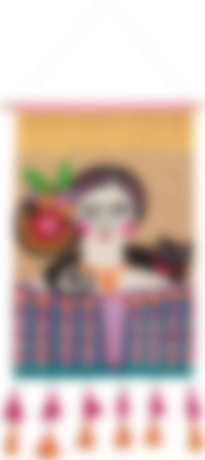 Ian Snow Frida Kahlo Embroidered Wall Hanging
