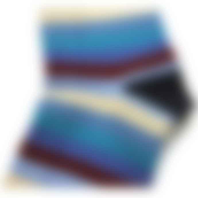Burrows & Hare  Navy Blue & Multi Colour Striped Socks