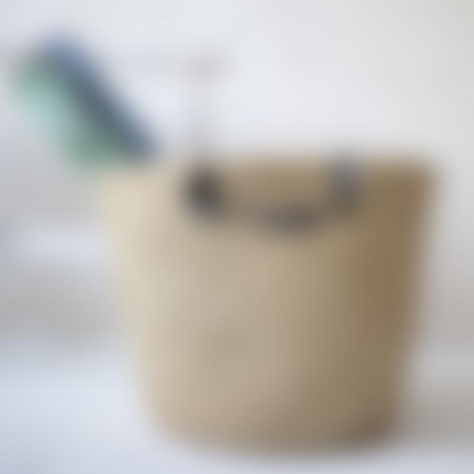 MaheHomeware Leather Handles Basket