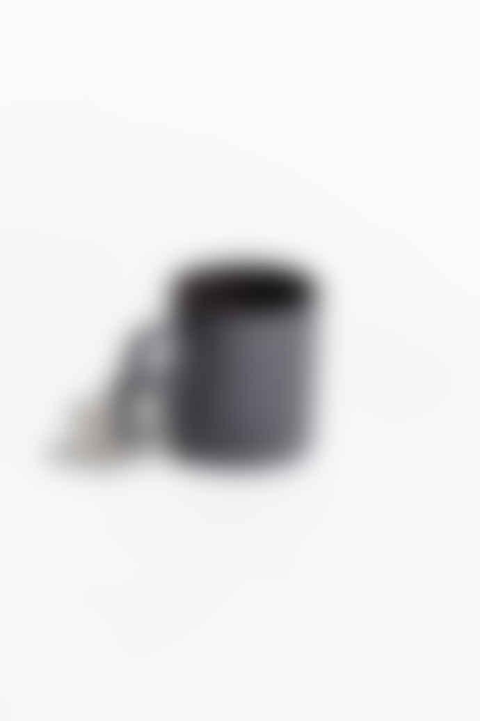 Aandersson Aandersson Grey Porcelain Mug With Geometric Shaped Handle 'Alwin'