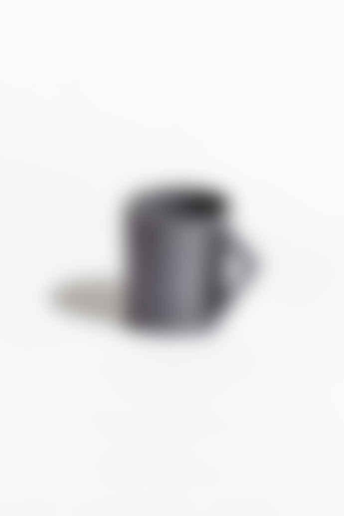 Aandersson Grey Porcelain With Triangular Shaped Handle 'Agnes' Mug