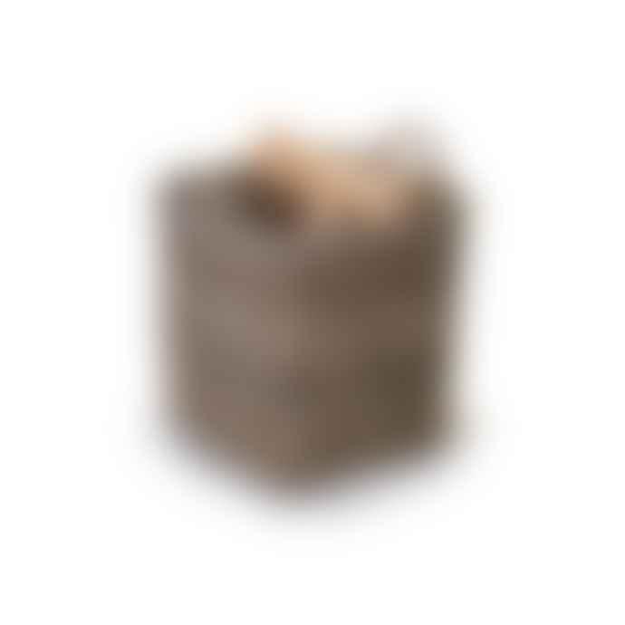 Garden Trading Square Log Basket   Medium