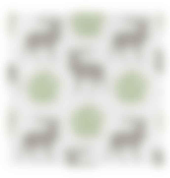 Thornback & Peel Set Of 4 Stag Mistletoe Napkin