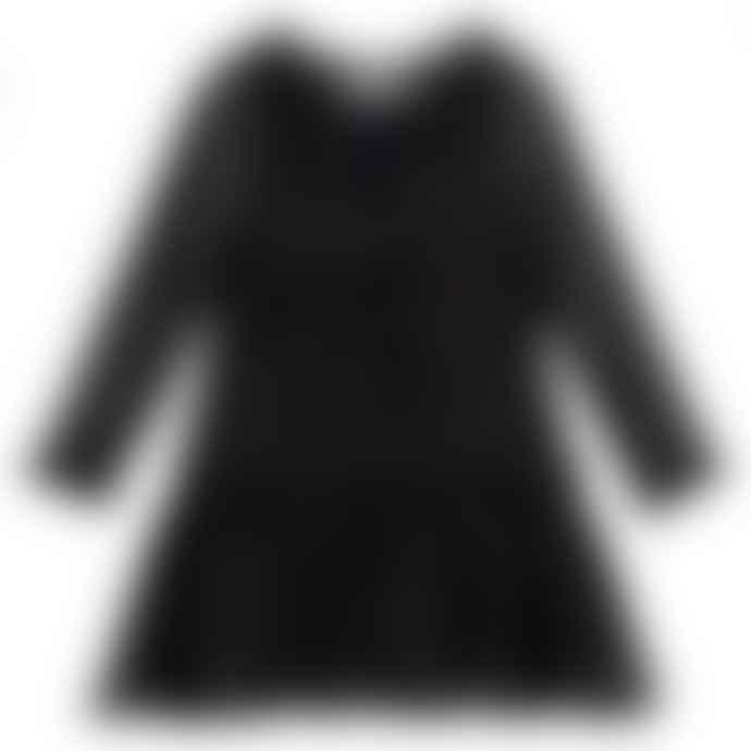 Stella McCartney Kids Black & Gold Girls Long Sleeve Constance Dress