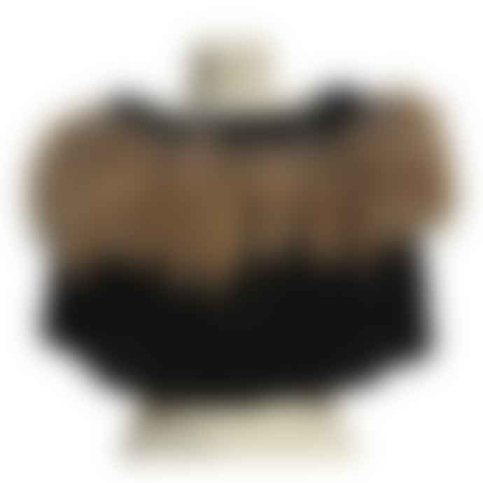 Natures Collection Black/Brown Mohair And Raccoon Collar