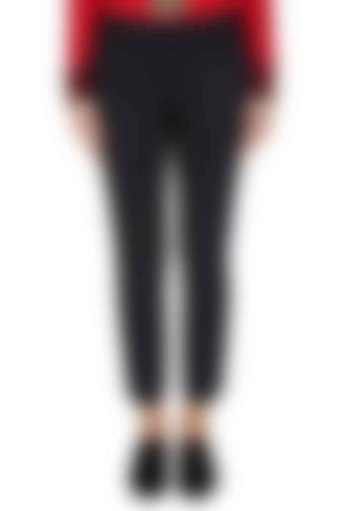 Set Fashion Black 59809 Cropped Suit Pants