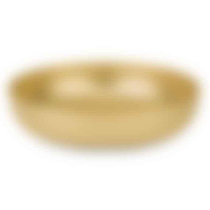 Alessi 29cm Gold Morrison Round Brass Basket