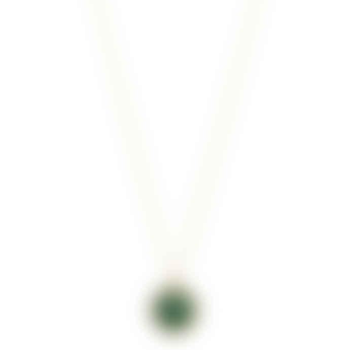 Carousel Jewels  Green onyx and smoky quartz pendant