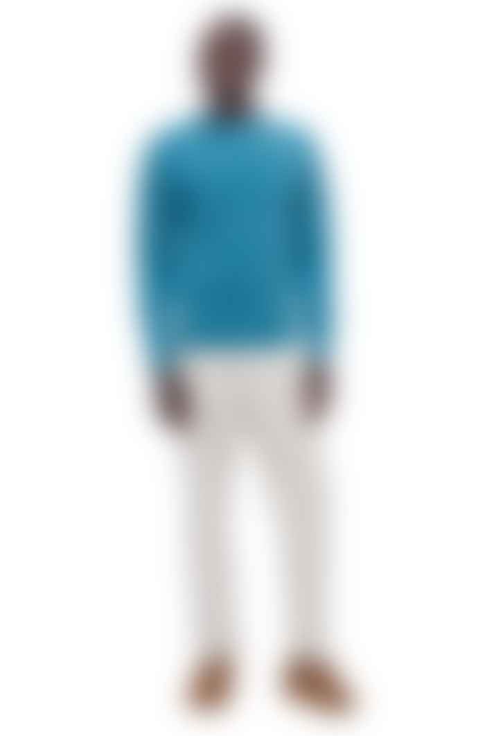 YMC Blue Suedehead Crew Sweater