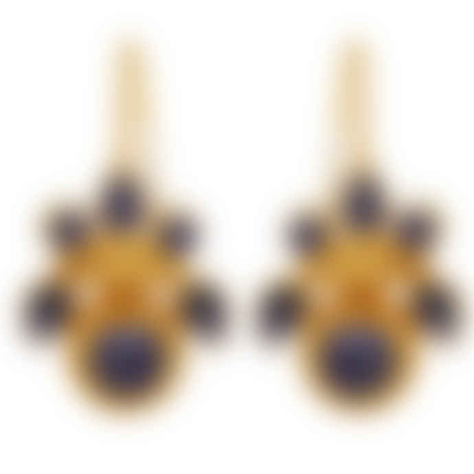 Carousel Jewels  Intricate lapis heritage earrings