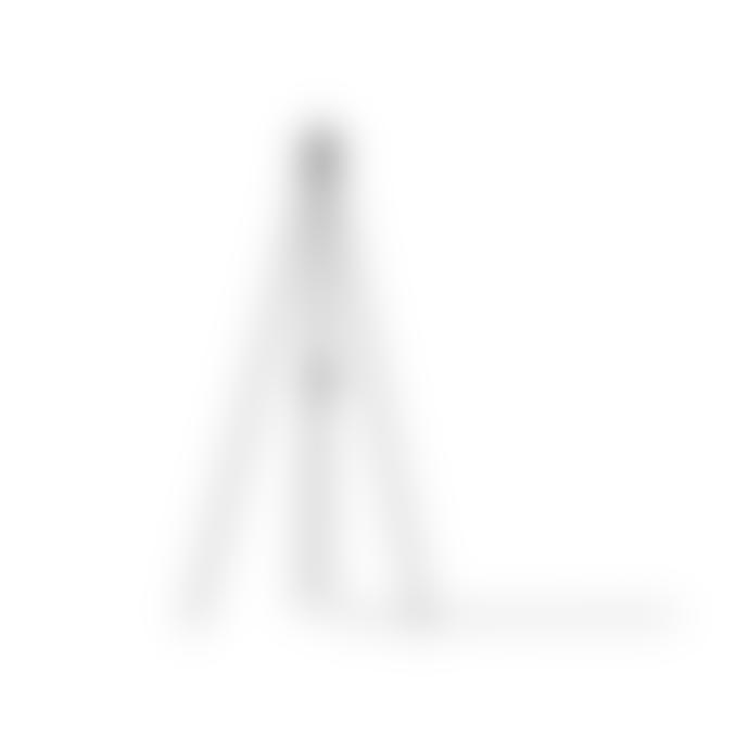 UMAGE Medium Light Grey Feather Eos Black Tripod Floor Lamp