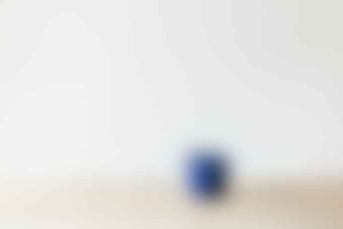 Grand Illusions Vibrant Blue Crackle Glazed Pot