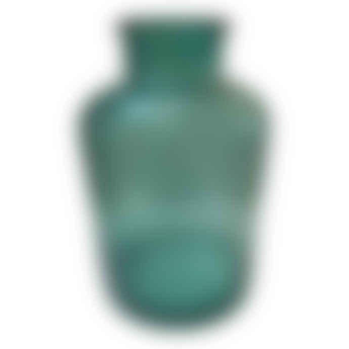 Small Smoke Blue Glass Vase
