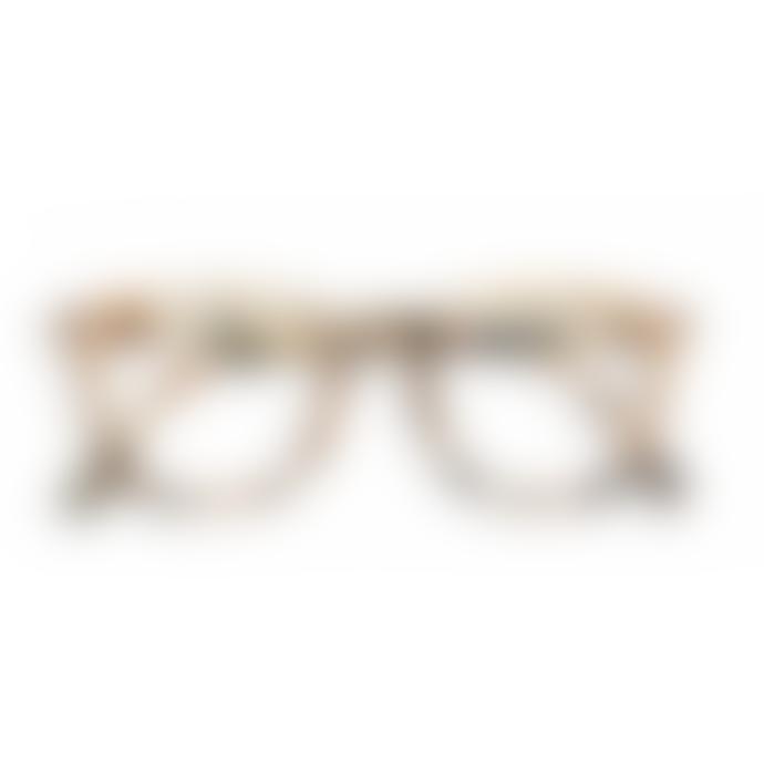 IZIPIZI Unisex Light Tortoise Shell E Trapezium Reading Glasses