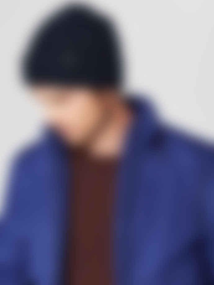 Selected Homme In Dark Sapphire New Wool Beanie