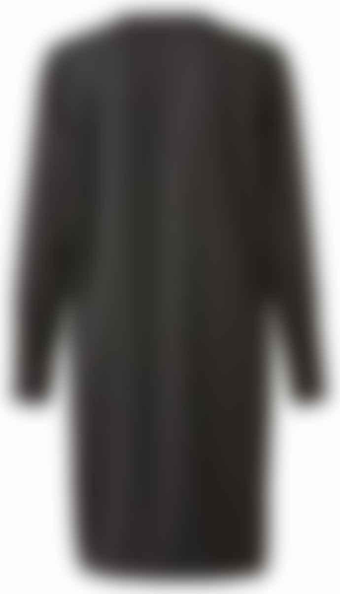 Yaya Black V Neck Dress