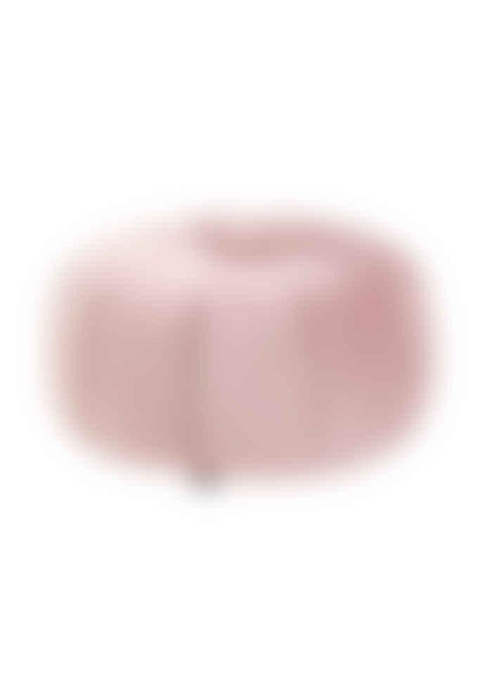 Nordal Round Velvet Puff Stool in Blush Pink
