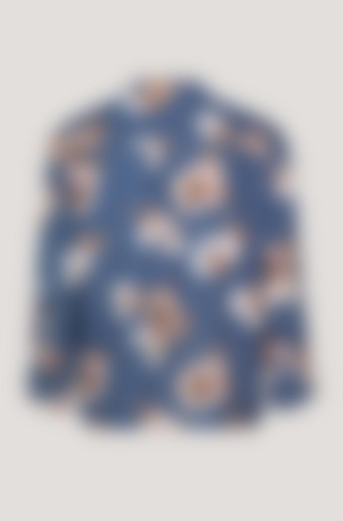 Samsoe & Samsoe Blue Floral Elm Shirt