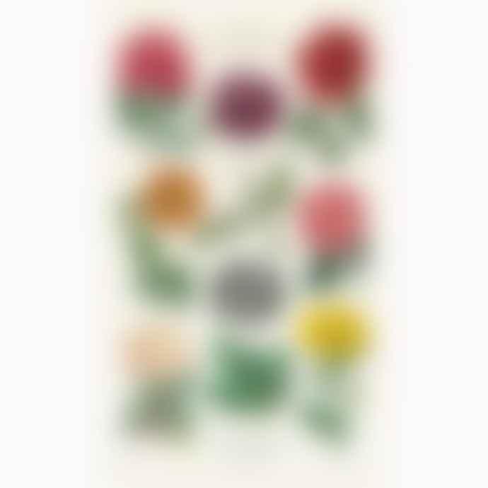 Cavallini & Co Botanica Garden Flowers Cotton Tea Towel With Gift Bag
