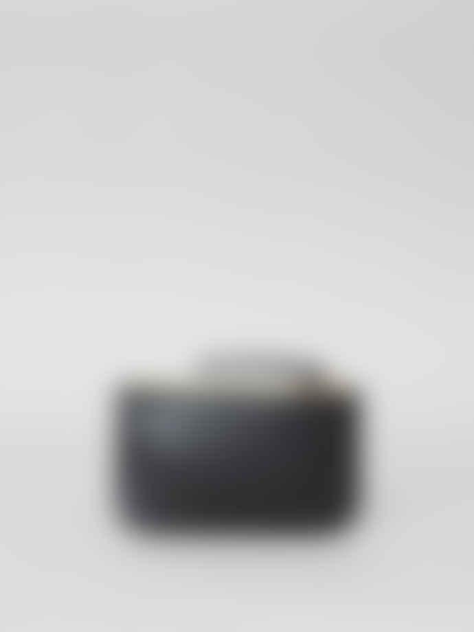 Mimi Berry Black Small Leather Frazzle Anchor Purse