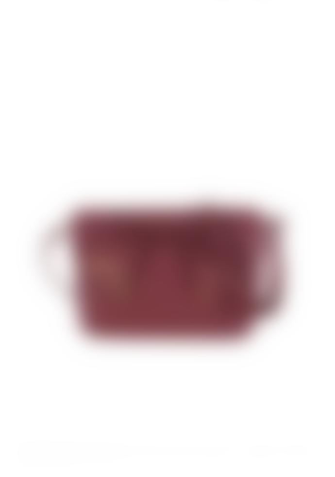 Compania Fantastica Burgundy Red Cross Body Side PU Vegan Faux Leather