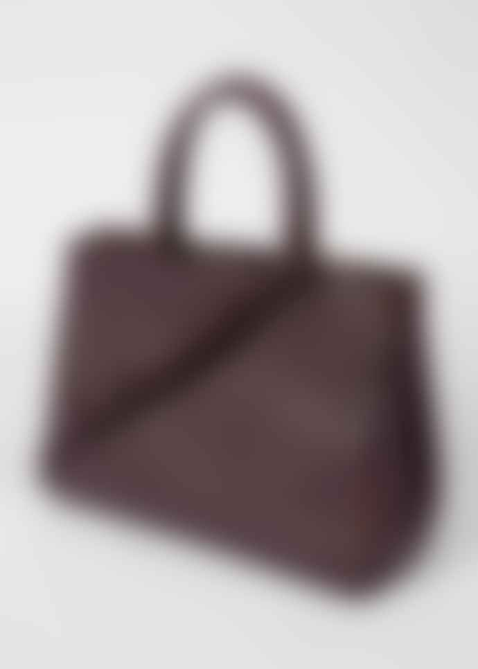 Paul Smith Women's Burgundy T-Bar Leather Tote Bag