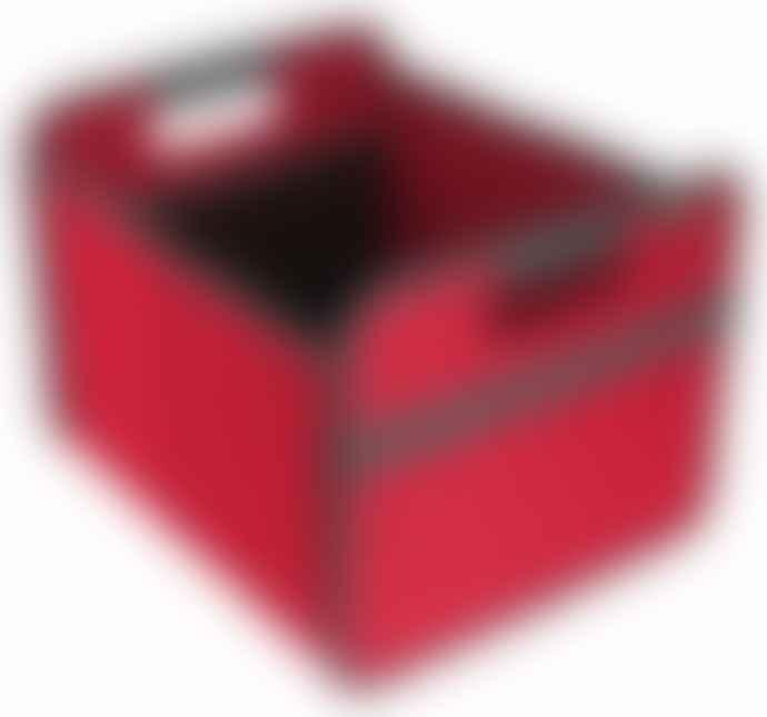Meori Heavy Duty Premium Foldable Storage Carry Box Tiny Classic Red