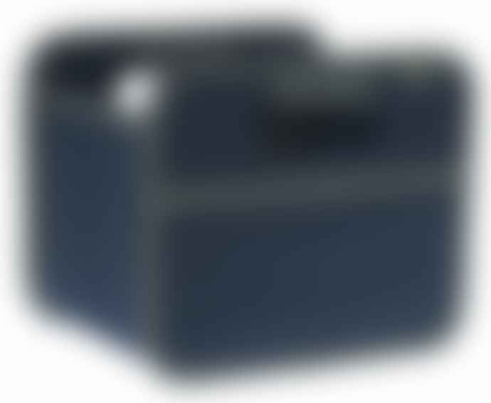 Meori Heavy Duty Premium Foldable Storage Carry Box Tiny Classic Navy Blue